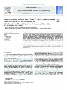 and FTIR spectroscopy for characterization of light