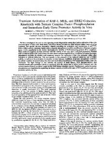 and Immediate-Early Gene Promoter Activity In Vivo - Molecular and ...
