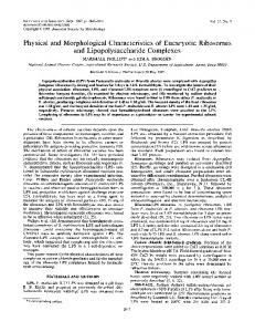 and Lipopolysaccharide Complexes - Infection and Immunity
