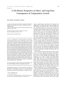 and Long-Term Consequences of Compensatory Growth