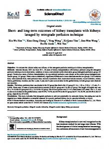 and long-term outcomes of kidney transplants with ... - Semantic Scholar
