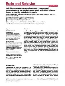 and microstructural variation is associated with ... - Wiley Online Library