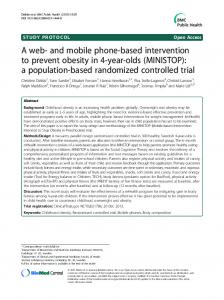 and mobile phone-based intervention to prevent obesity in ... - CiteSeerX