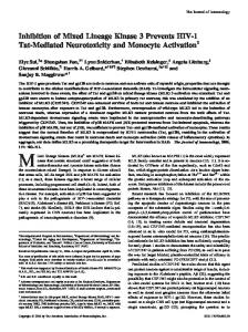and Monocyte Activation Prevents HIV-1 Tat-Mediated Neurotoxicity ...