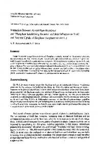 and 'Phosphate Solubilizing Bacteria' and their Influence on Yicld and ...