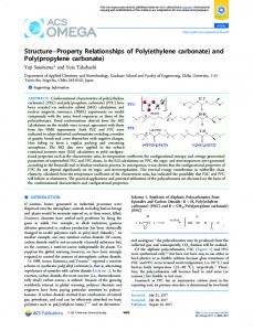 and Poly(propylene carbonate) - ACS Publications - American