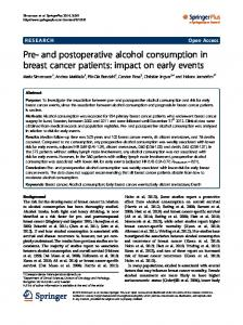 and postoperative alcohol consumption in breast ... - Semantic Scholar