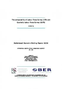 and Quarterly Labour Force Survey (QLFS) - Core