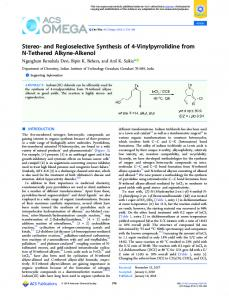 and Regioselective Synthesis of 4-Vinylpyrrolidine ... - ACS Publications
