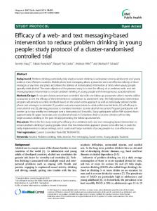 and text messaging-based intervention to reduce