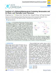 and Thermally Cured Thermoset - ACS Publications - American ...