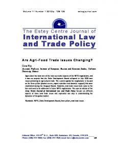 and Trade Policy - AgEcon Search
