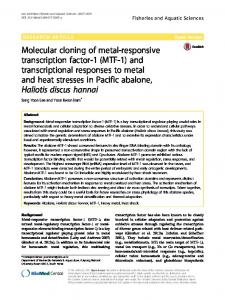 and transcriptional responses to metal and heat stresses in