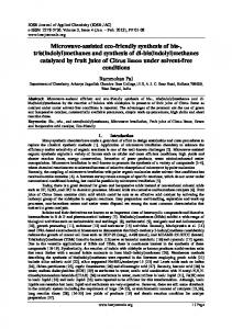 and tris(indolyl) - IOSR journals