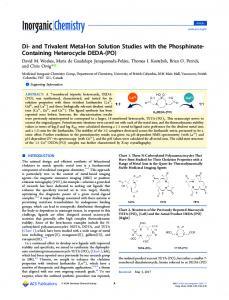and Trivalent Metal-Ion Solution Studies with the ... - ACS Publications
