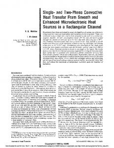 and Two-Phase Convective Heat Transfer From