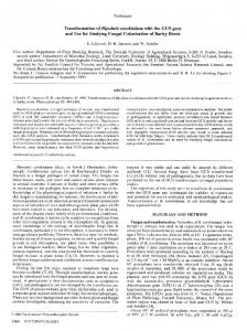 and Use for Studying Fungal Colonization of Barley Roots - American ...