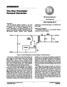 AND8039/D The One−Transistor Forward Converter