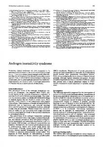 Androgen insensitivity syndrome - Europe PMC