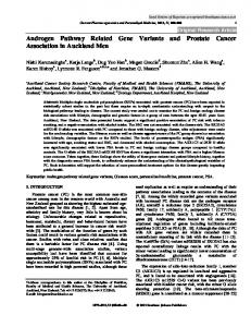 Androgen Pathway Related Gene Variants and ...