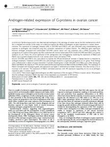 Androgen-related expression of G-proteins in ovarian cancer