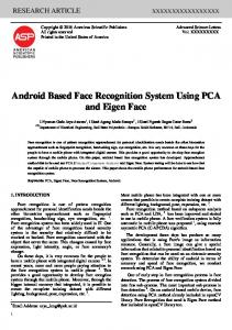 Android Based Face Recognition System Using PCA