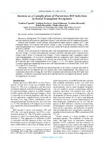 anemia as a Complication of Parvovirus B19 Infection in ... - Medicina