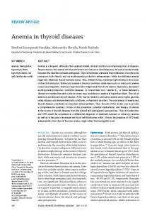Anemia in thyroid diseases