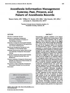 Anesthesia Information Management Systems - Wiley Online Library