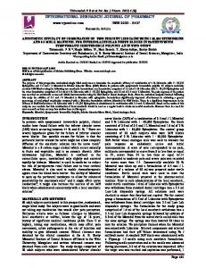 anesthetic efficacy of combination of two percent lidocaine with 1 ...