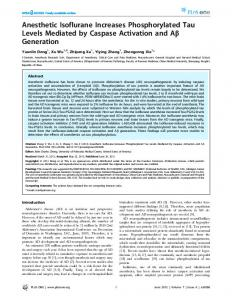 Anesthetic Isoflurane Increases Phosphorylated ... - Semantic Scholar