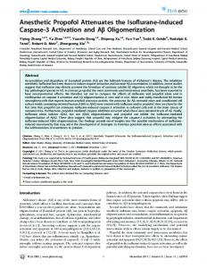 Anesthetic Propofol Attenuates the Isoflurane ... - Semantic Scholar