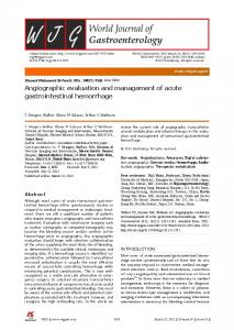 Angiographic evaluation and management of acute ...