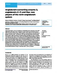 Angiotensin-converting enzyme 2, angiotensin - Journal of ...