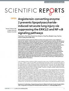 Angiotensin-converting enzyme 2 prevents