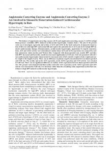 Angiotensin-Converting Enzyme and Angiotensin-Converting Enzyme ...