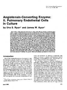 Angiotensin-Converting Enzyme: II ... - BioMedSearch