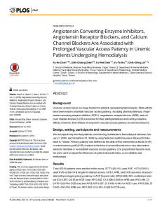 Angiotensin Converting-Enzyme Inhibitors