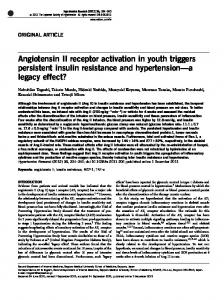 Angiotensin II receptor activation in youth triggers persistent ... - Nature