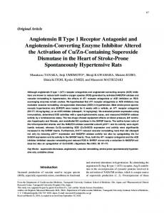 Angiotensin II Type 1 Receptor Antagonist and Angiotensin ... - Nature