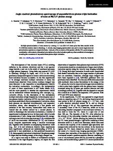 Angle-resolved photoelectron spectroscopy of sequential ... - pubdb