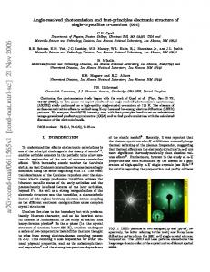 Angle-resolved photoemission and first-principles electronic structure