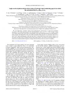 Angle-resolved photoemission observation of isotropic ... - EX7