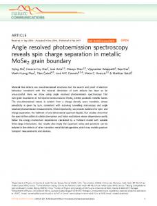 Angle resolved photoemission spectroscopy reveals spin charge