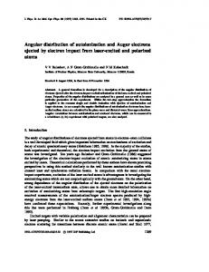 Angular distribution of autoionization and Auger electrons ejected by ...