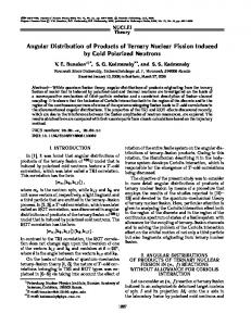 Angular Distribution of Products of Ternary Nuclear Fission Induced by ...