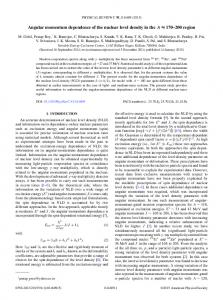 Angular momentum dependence of the nuclear ... - APS Link Manager