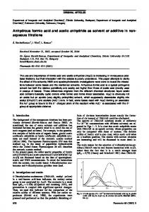 Anhydrous formic acid and acetic anhydride as ... - Ingenta Connect