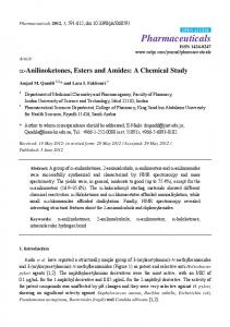 Anilinoketones, Esters and Amides: A Chemical ... - Semantic Scholar