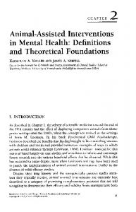 Animal-Assisted Interventions in Mental Health - CiteSeerX